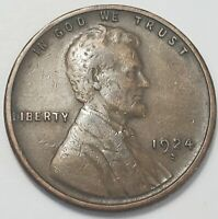 2  FINE LOW MINTAGE 1924 S LINCOLN WHEAT CENT