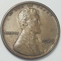 3 ABOUT UNCIRCULATED LOW MINTAGE 1929 P LINCOLN WHEAT CENT