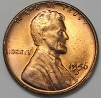 GEM BUSINESS UNCIRCULATED LOW MINTAGE 1956 D LINCOLN WHEAT CENT