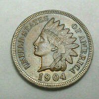 1904 P INDIAN HEAD CENT / PENNY  GOOD OR BETTER  SHIPS FREE