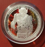2014 $1 DOCTOR WHO MONSTERS CYBERMEN 1/2OZ SILVER PROOF COIN