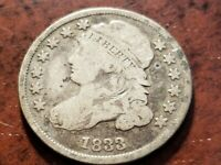 1833 CAPPED BUST SILVER DIME     INV04     DL420