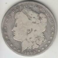 SEMI-KEY 1893-O MORGAN DOLLAR G-VG