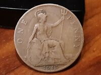1913 GREAT BRITAIN ONE PENNY KM810  .99C NO RESERVE