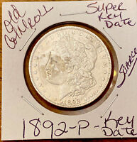1892-P MORGAN DOLLAR-SUPER KEY DATE FROM OLD SILVER DOLLAR COIN ROLL-