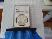 1883-O LUSTROUS SILVER  NGC MINT STATE 62   UNCIRCULATED WHITE LUSTER O05