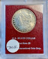 1884 O MORGAN SILVER DOLLAR PARAMOUNT HOLDER BU