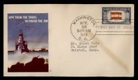 DR WHO 1943 FDC OVERRUN NATIONS WWII PATRIOTIC CACHET AUSTRI