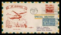 DR WHO 1947 FDC 5C ELECTRIC EYE AIRMAIL PENTARTS CACHET SPEC