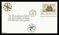 DR WHO 1983 FDC GERMAN IMMIGRATION ANIV MURRY HAND COLORED C