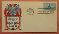 DR WHO 1953 FDC HONORING THE NATIONAL GUARD KEN BOLL CACHET