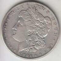 BETTER DATE 1904-S MORGAN SILVER DOLLAR ABOUT EXTRA FINE  DETAILS