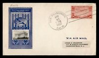 DR WHO 1937 FIRST FLIGHT SAN FRANCISCO CA TO PHILIPPINES FDC
