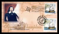 DR WHO 2006 FDC JOINT ISSUE CANADA CHAMPLAIN PANDA CACHET  G