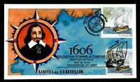 DR WHO 2006 FDC JOINT ISSUE CANADA CHAMPLAIN SHIP LITTLE TIG