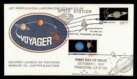 DR WHO 1991 FDC SPACE VOYAGER/JUPITER CACHET COMBO  G04751