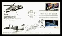 DR WHO 1974 FDC SPACE SKYLAB SIGNED CACHET COMBO  G04757