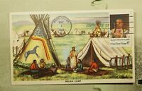 DR WHO 1968 FDC MAXIMUM CARD INDIAN CHIEF ART  F33714