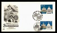 DR WHO 1991 FDC JOINT ISSUE SWITZERLAND 700TH ANIV ARTCRAFT