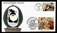 DR WHO 1996 FDC JOINT ISSUE MEXICO ENDANGERED SPECIES HAND C