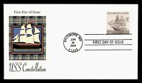 DR WHO 2004 FDC USS CONSTELLATION NAVY SHIP CACHET  G07530