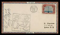 DR WHO 1930 MISHAWAKA IN FIRST FLIGHT AIR MAIL CAM 27 C21184