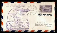 DR WHO 1950 NEW YORK NY TO URUGUAY FIRST FLIGHT AIR MAIL  C2