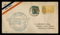 DR WHO 1933 PHILIPPINES FIRST FLIGHT OVPT ILOILO TO FABRICA