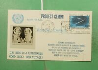 DR WHO 1965 UNITED NATIONS NY SPACE PROJECT GEMINI POSTAL CA