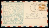 DR WHO 1936 USS LUZON NAVAL SHIP ICHANG CHINA CACHET AIRMAIL