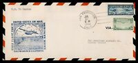 DR WHO 1940 FIRST FLIGHT FAM 19 SAN FRANCISCO CA TO CANTON I