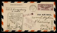 DR WHO 1930 SHREVEPORT LA FIRST FLIGHT AIR MAIL CAM 33 RTS C