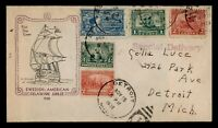 DR WHO 1938 FDC DELAWARE SWEDISH ANIV CACHET COMBO SPECIAL D