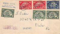 614 16 1C 5C HUGUENOT WALLOON ON ONE COVER WITH PHILADELPHIA