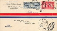 627 2C SESQUICENTENNIAL EXPOSITION ON AIR MAIL COVER [061721