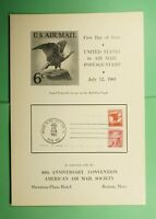 DR WHO 1963 FDC 6C AIRMAIL AAMS CONVENTION CEREMONY PROGRAM