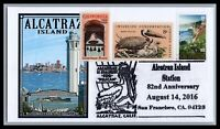 US EVENT 3438   ALCATRAZ ISLAND 82ND ANNIV. BLUE  1 OF 1 BY