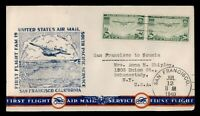 DR WHO 1940 FIRST FLIGHT FAM 19 SAN FRANCISCO CA TO NOUMEA