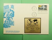 DR WHO 1969 FDC SPACE MOON LANDING C76 METAL CACHET  LG13794