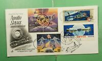 DR WHO 1992 FDC SPACE APOLLY SOYUZ JOINT ISSUE RUSSIA CACHET