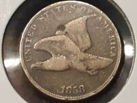 1858 SMALL LETTER FLYING EAGLE CENT VG 3