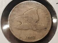 1858 SMALL LETTER FLYING EAGLE CENT 10