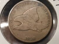 1858 SMALL LETTER FLYING EAGLE CENT 9