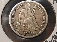 1891-S SEATED DIME  TYPE EXAMPLE