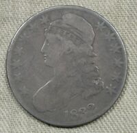 1832 CAPPED BUST HALF DOLLAR FINE  EARLY TYPE COIN WITH GREAT SURFACES NG102