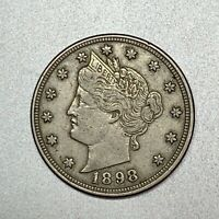 1898   LIBERTY V NICKEL    EXTRA FINE     BETTER DATE