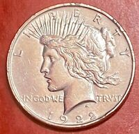 1922-D U.S. SILVER PEACE DOLLAR $1 UNCIRCULATED DETAILS 90 SILVER