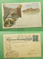 DR WHO 1899 CHICAGO IL MUSEUM PATRIOGRAPHIC POSTCARD TO GERM