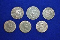 6 NEW JERSEY COLONIAL COPPER COINS ATTRIBUTABLE BY MARIS NUM