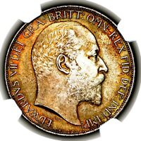 1902 KING EDWARD VII GREAT BRITAIN LONDON MINT SILVER CROWN COIN NGC MS65